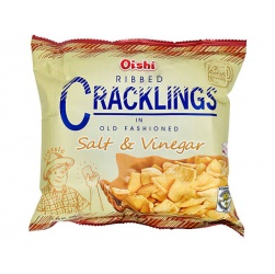 Oishi Ribbed Cracklings in Salt & Vinegar 50g