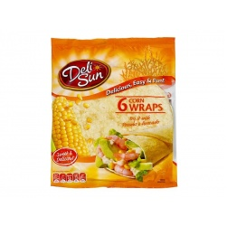 Deli Sun Corn Tortillas 6 Wraps 360g