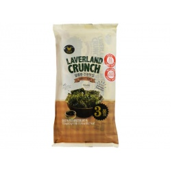 Laverland Crunch Seaweed Snack with Sweet Soy 3X4.5g