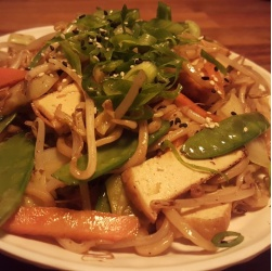 Egg Noodles with Tofu and Vegetables