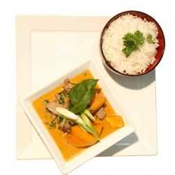 Sirloin in Red Curry, Coconut Milk and Pumpkin