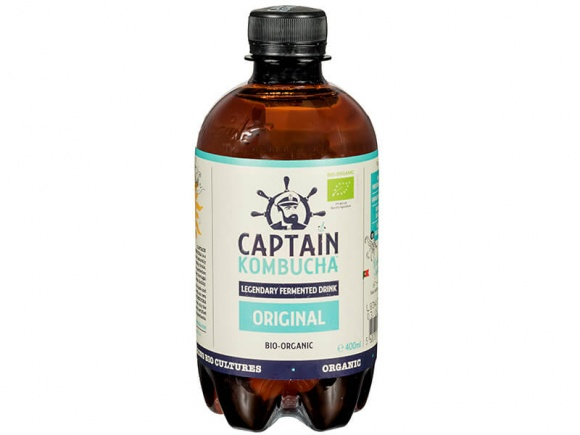 משקה תוסס ע''ב קומבוצ'ה 400 מ''ל Captain Kombucha